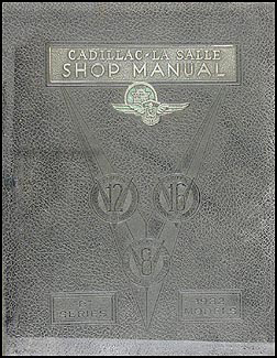 1932 LaSalle and Cadillac Repair Shop Manual Original