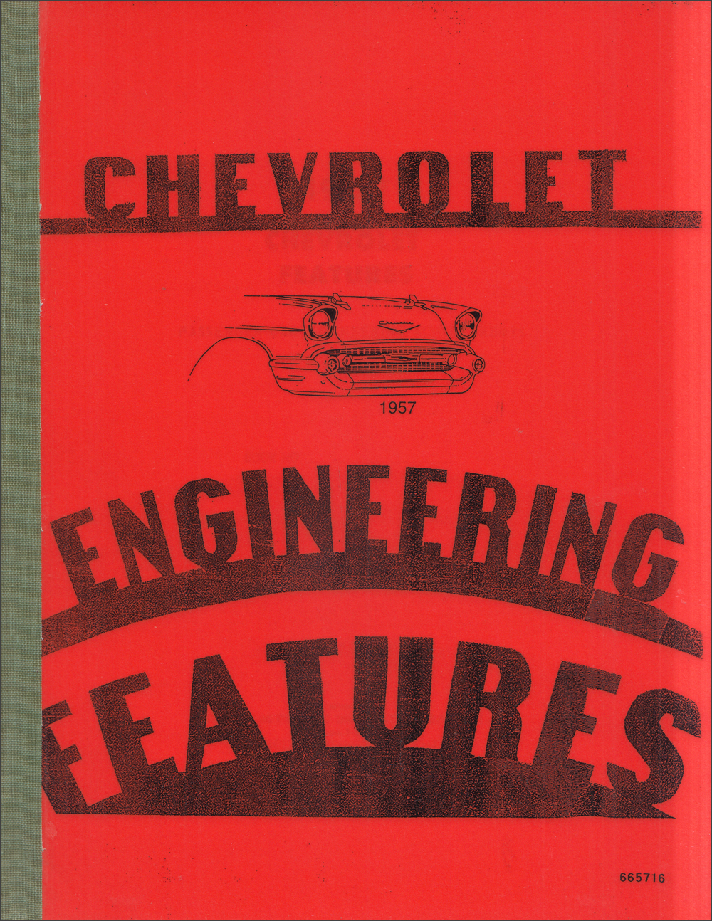 1957 Chevrolet Car Engineering Features Manual Reprint