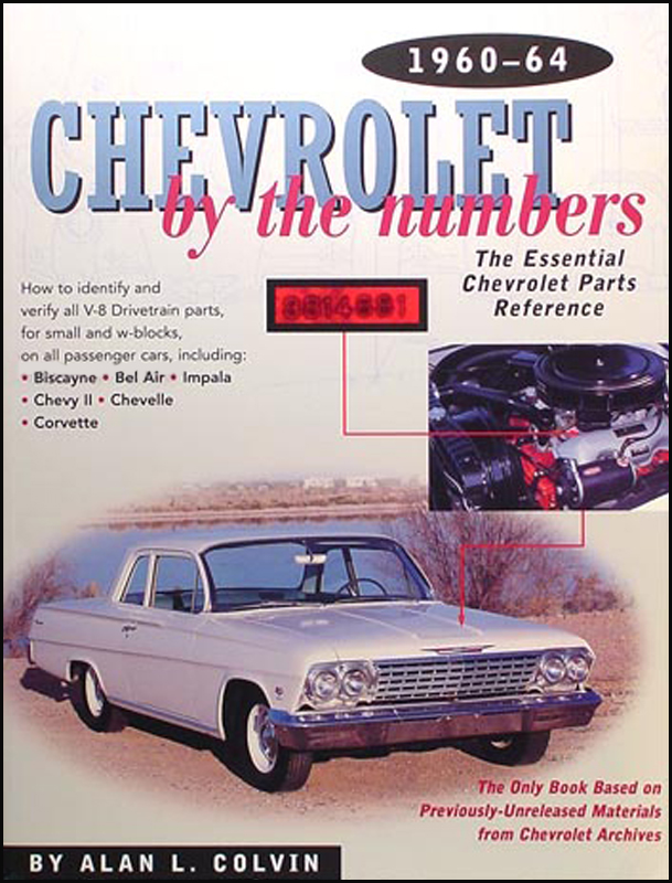 1960-1964 Chevy By the Numbers Decoder Book for V8 Drivetrain Parts
