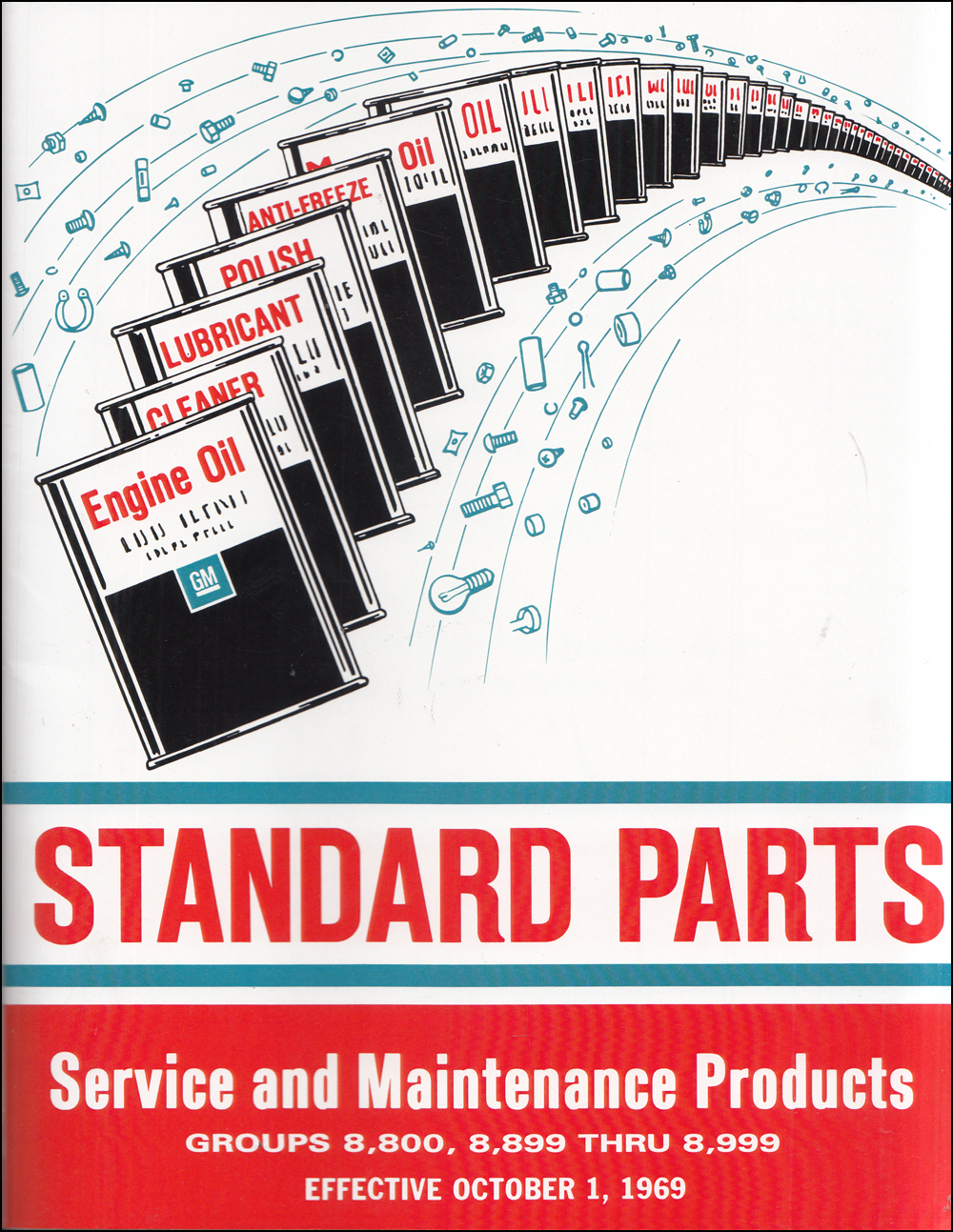 1963-1970 Chevrolet Standard Parts Catalog Reprint