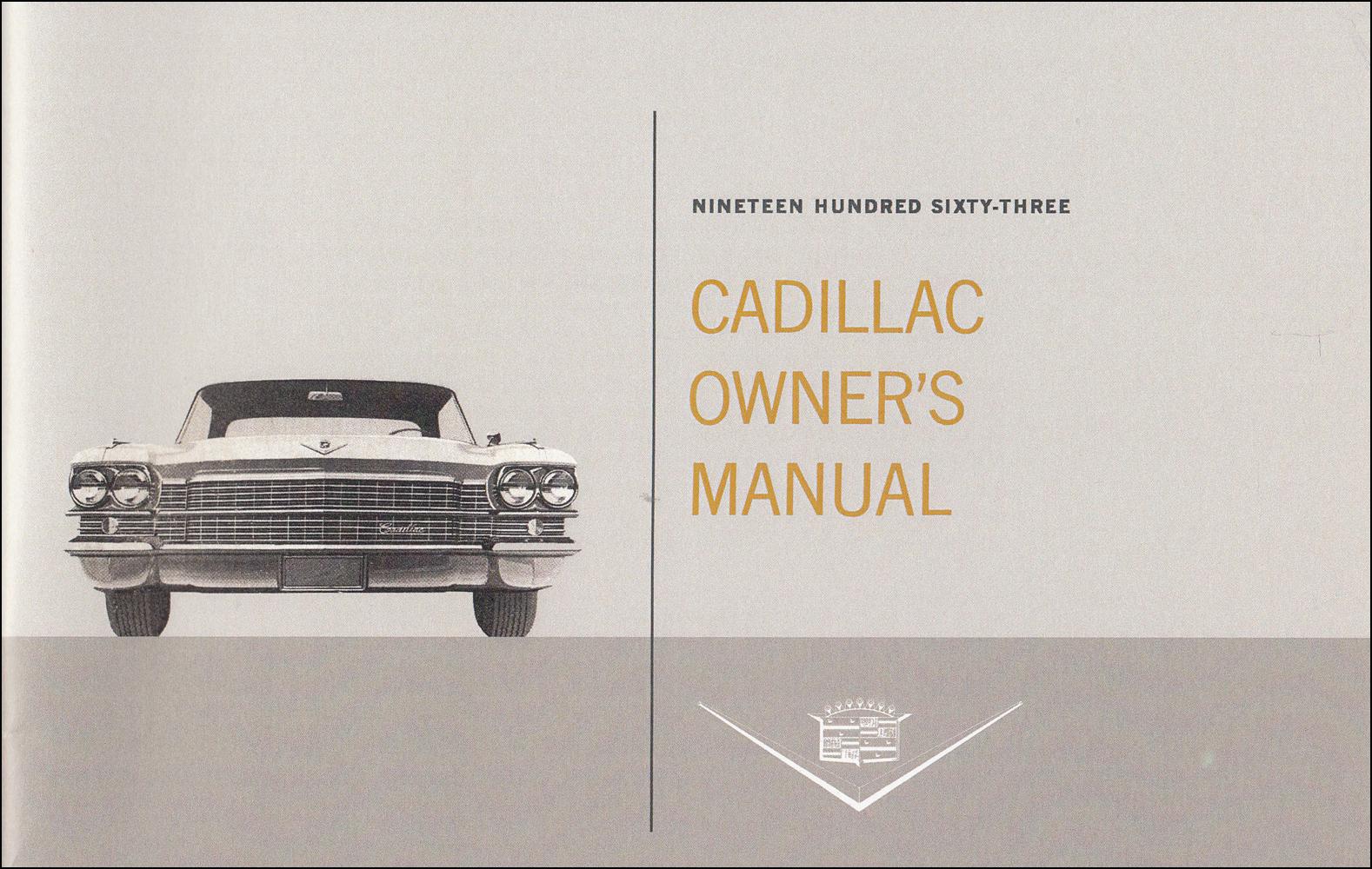 1963 CADILLAC  SHOP//BODY //PARTS MANUAL ON CD