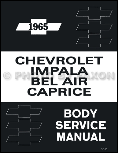 1965 Chevy Body Shop Manual Impala Bel Air Caprice Chevrolet Repair Service