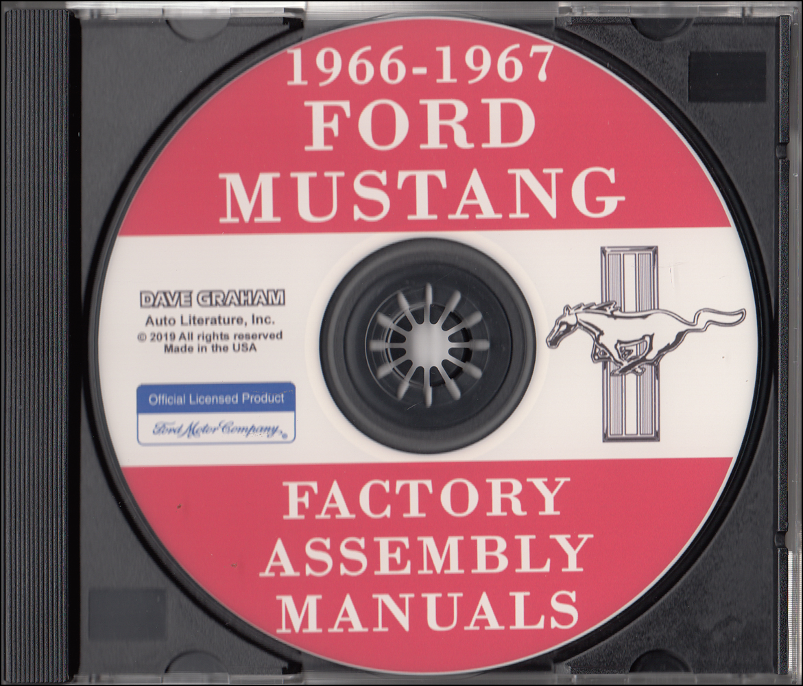 1966 Ford Mustang Large Format Electrical Wiring Diagrams Manual