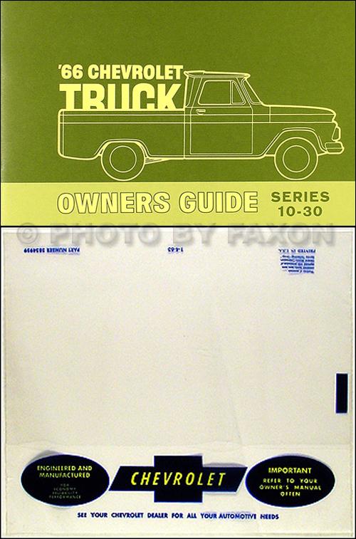 1966 Chevrolet Pickup Truck Wiring Diagram Manual Reprint