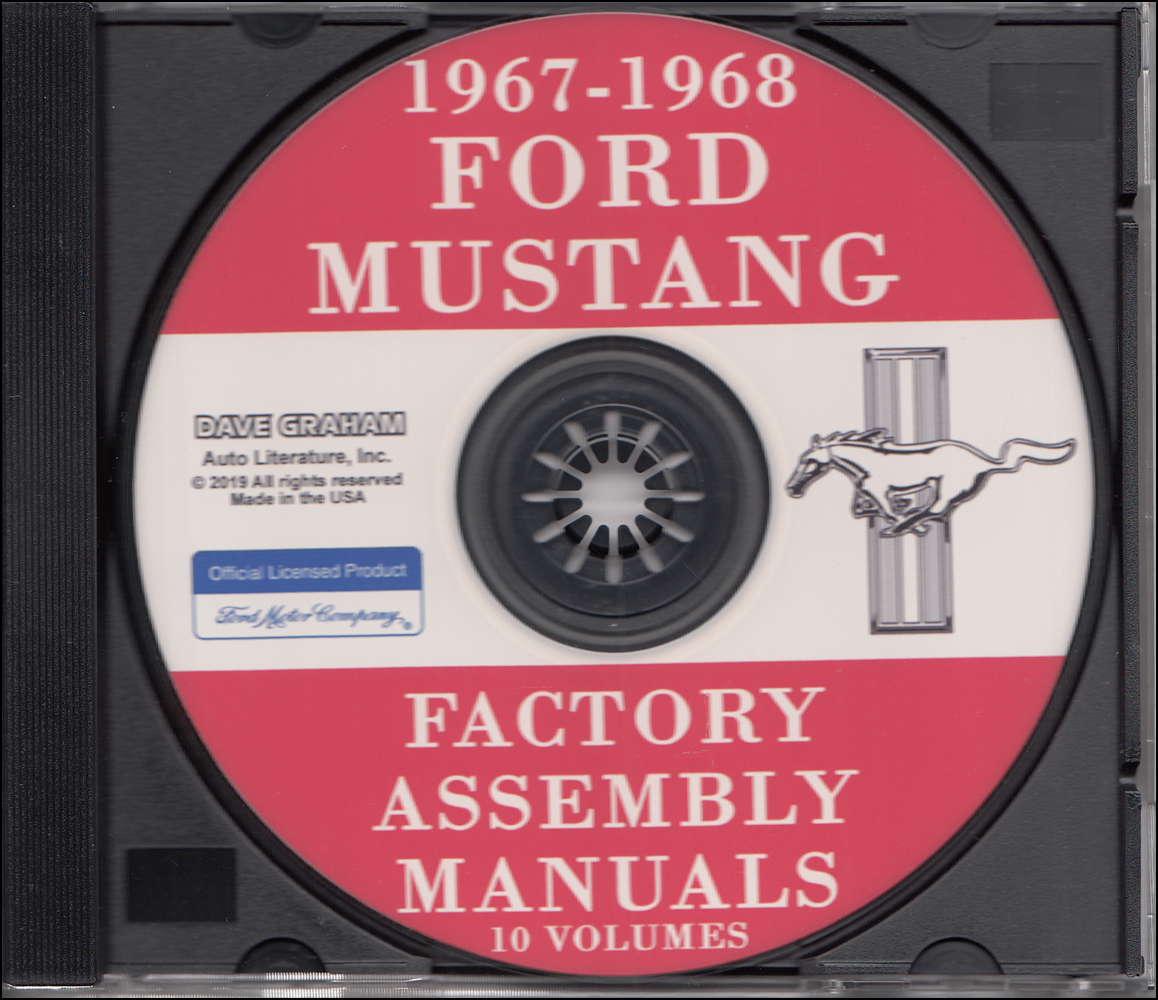 1967-1968 Ford Mustang Factory Assembly Manuals Set of 10 on CD-ROM