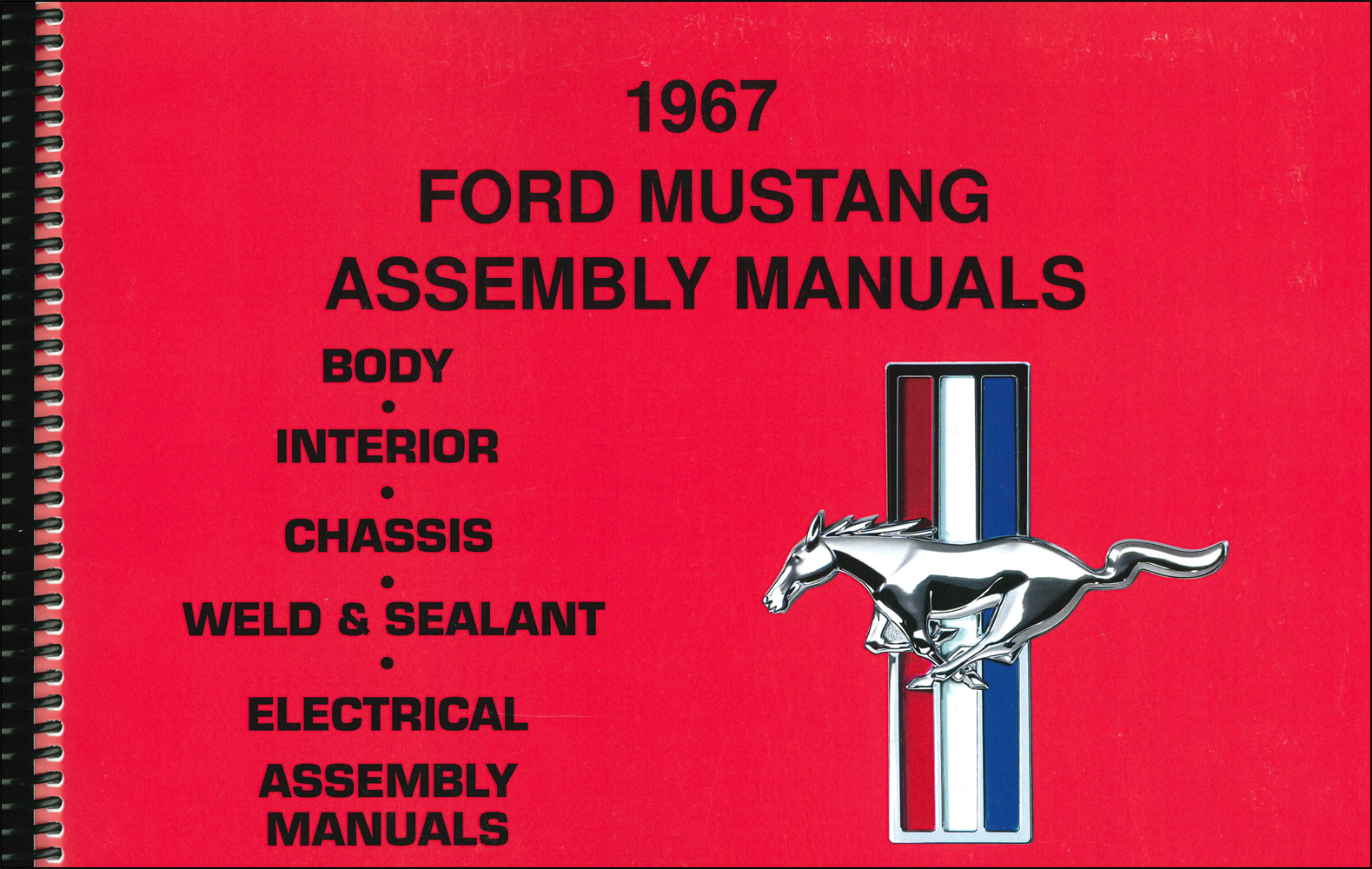 1967 Ford Mustang Assembly Manual Reprint set of 5 Books in 1 Volume