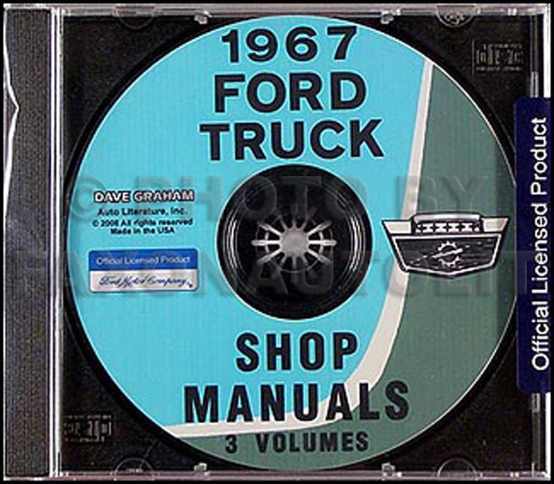 1967 Ford Pickup And Truck Repair Shop Manual Set On Cd