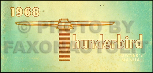 1968 ford thunderbird wiring diagram original related items