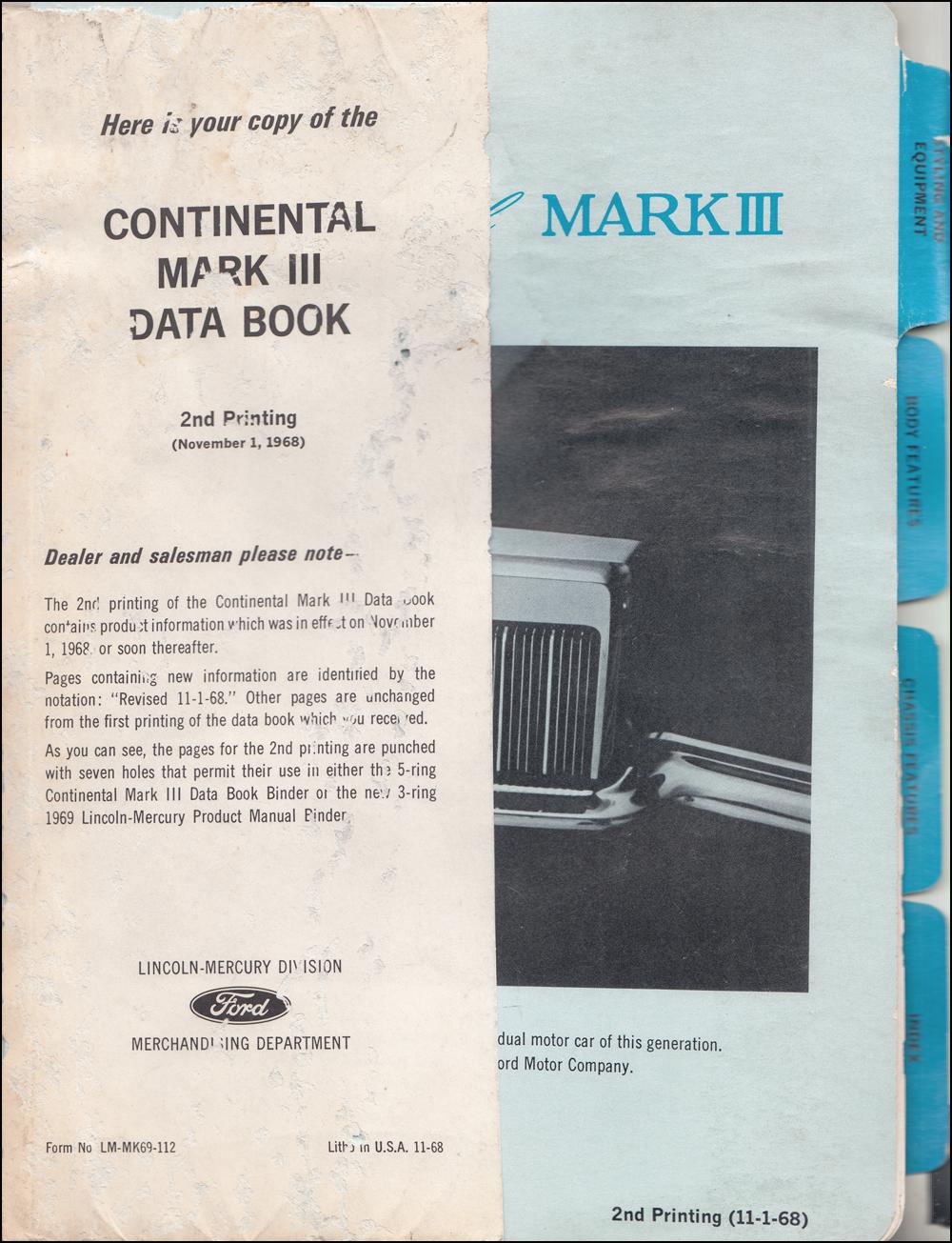 /'68-/'71 Mark III /& Full Lincoln Mercury PARTS CD Manual