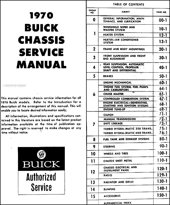 1970 buick repair shop manual reprint set skylark lesabre riviera gs