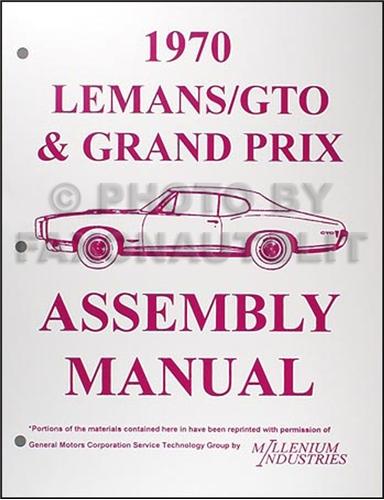 pontiac gto lemans tempest wiring diagram manual reprint 1970 pontiac lemans gto tempest grand prix assembly manual reprint