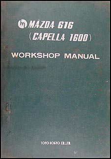 1971 Mazda 616 Capella 1600 Repair Shop Manual Original