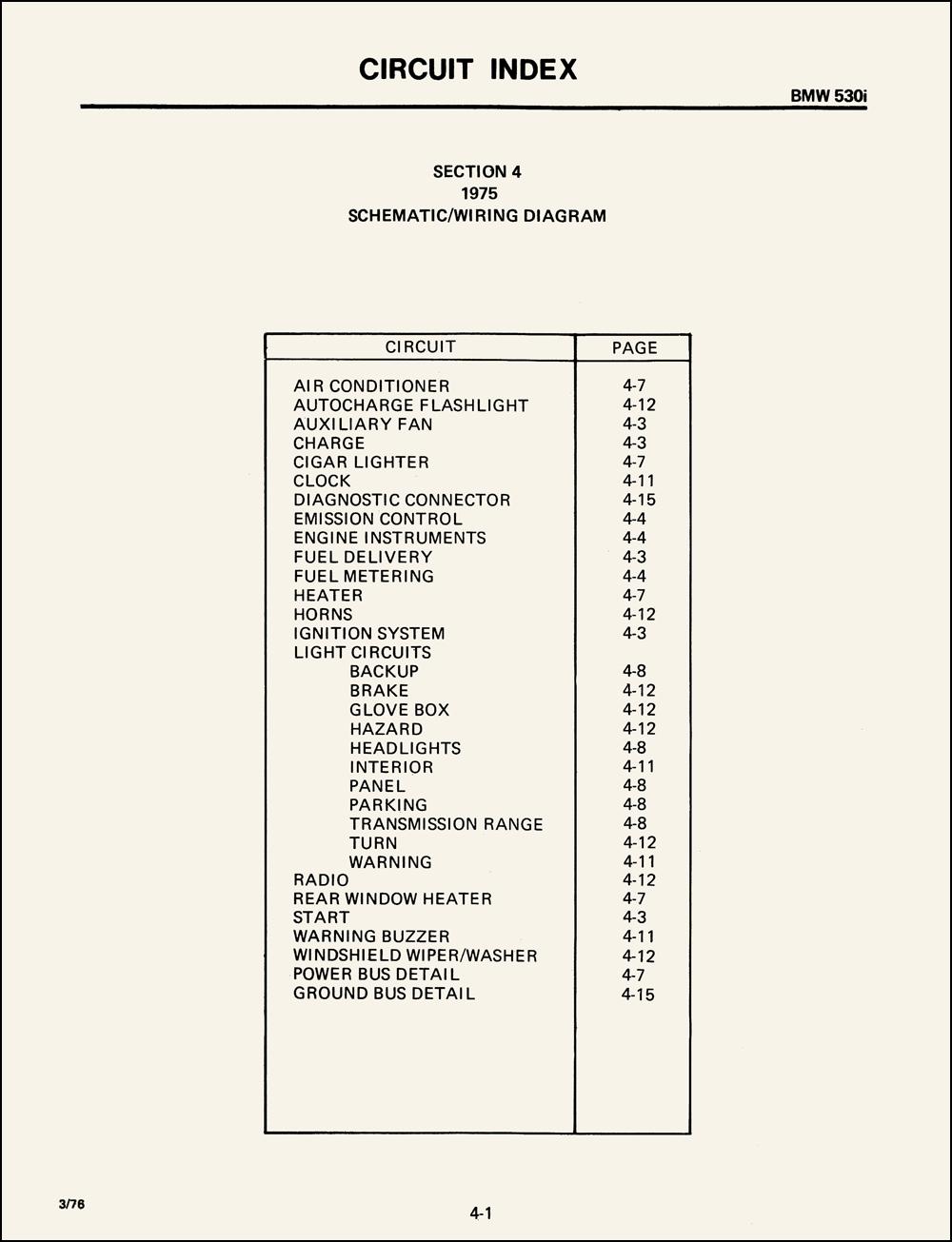 1975 Bmw 530i Wiring Diagram Original