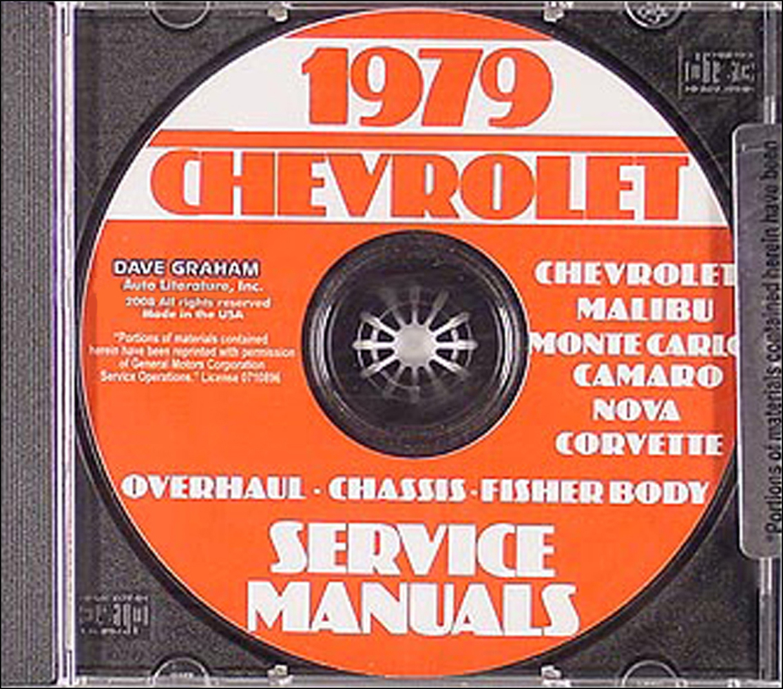 1979 Chevy Car Service, Overhaul, and Body Manuals CD-ROM