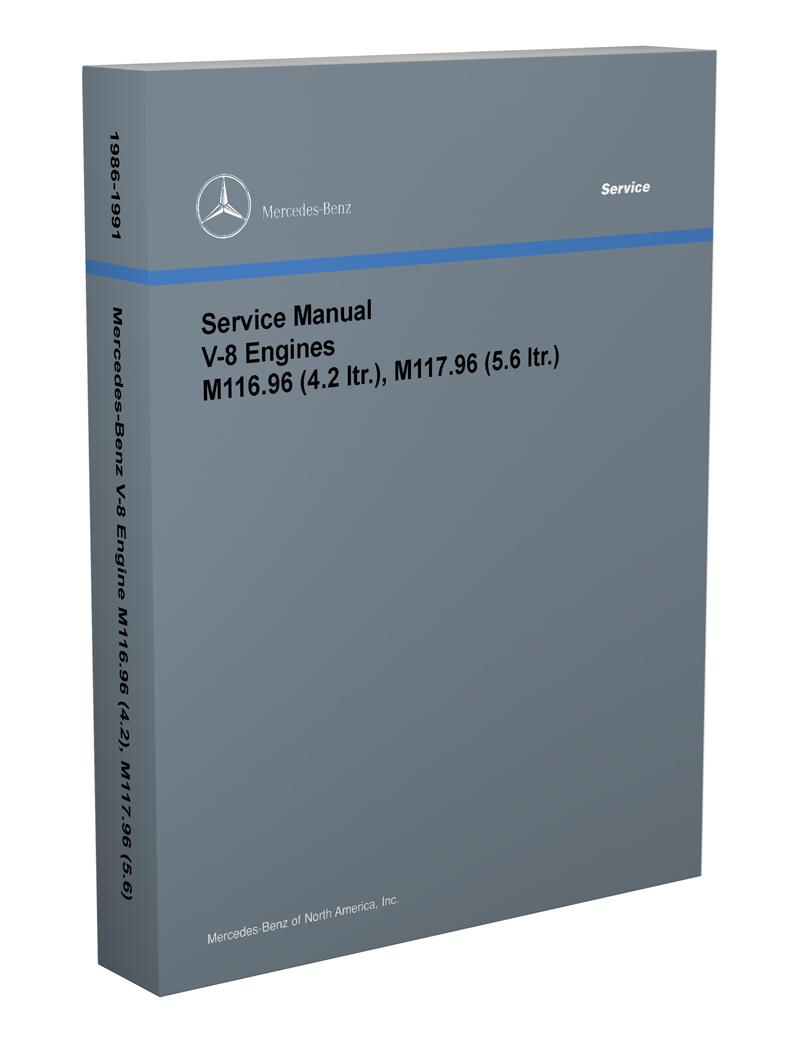1986 1989 1990 1991 Mercedes Benz Engine Shop Service Repair Manual Book OEM