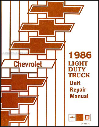 1986 Chevy 10-30 Truck Overhaul Manual Original