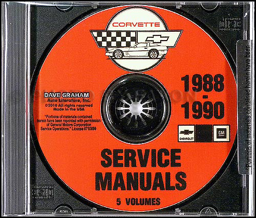 1988-1990 Chevrolet Corvette Service Manuals on CD-ROM Chevrolet