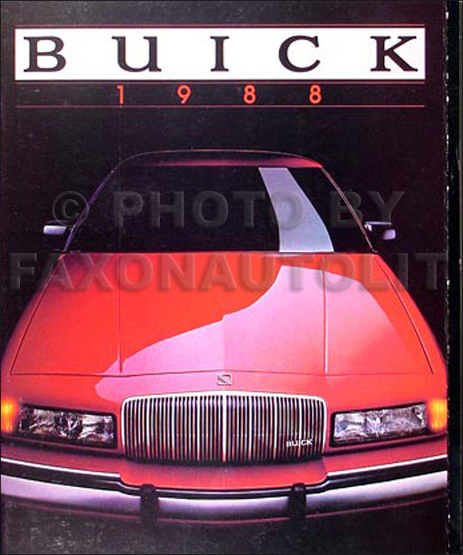 1988 Buick Sales Catalog Original--All Models