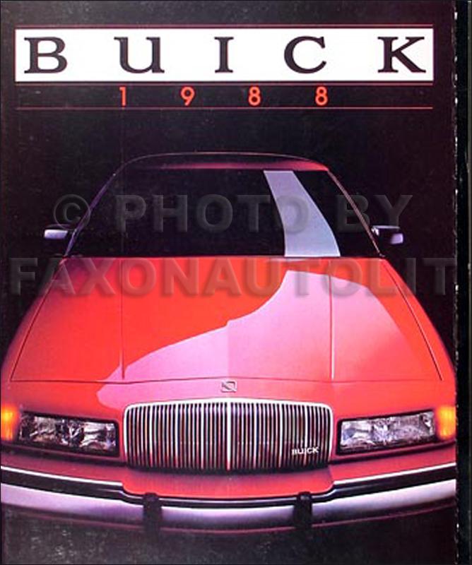 1988 Buick Sales Catalog Original--All Models