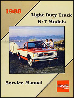 1988 GMC S-15 Pickup & Jimmy Repair Shop Manual Original