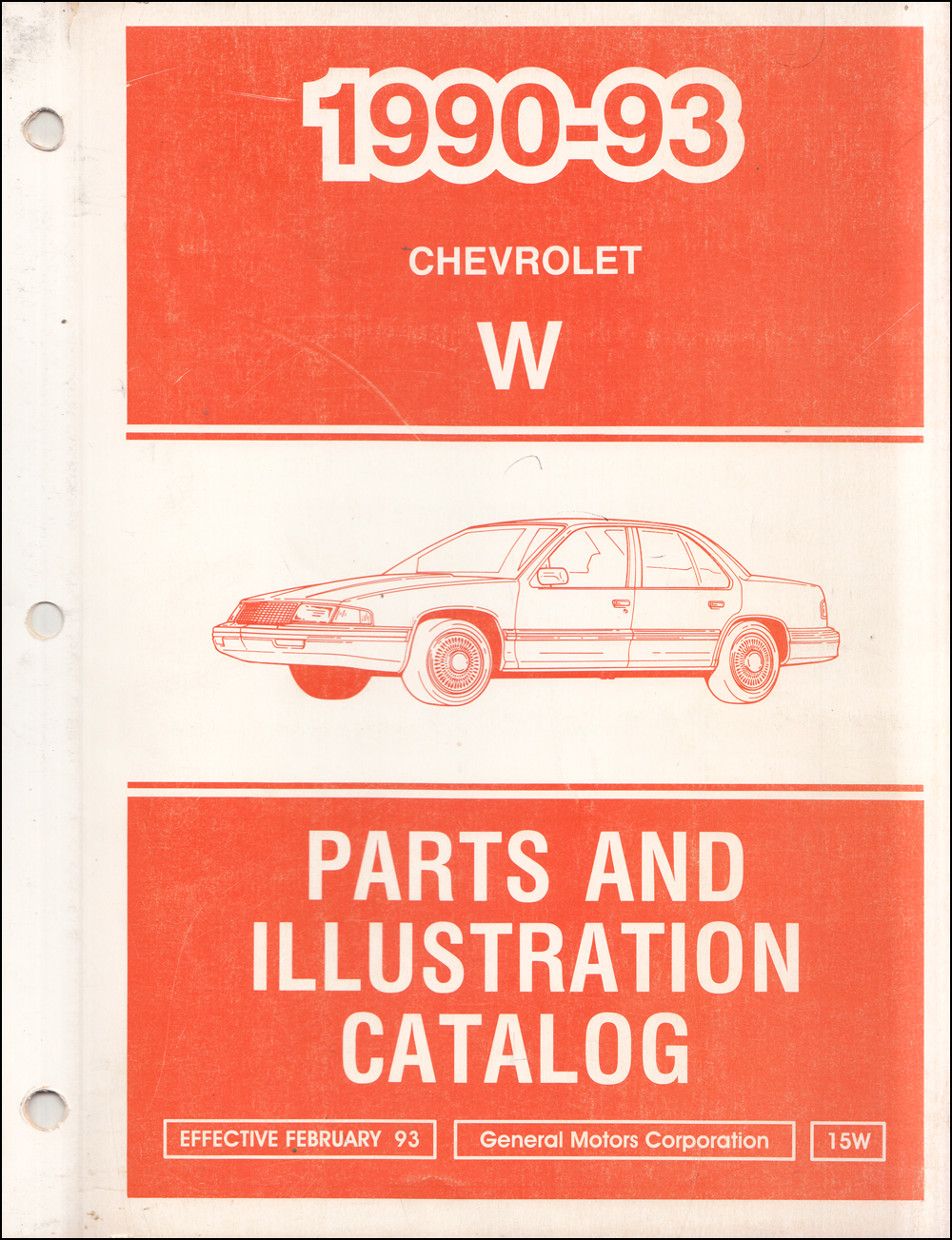1990-1993 Chevrolet Lumina Car Parts Book Original