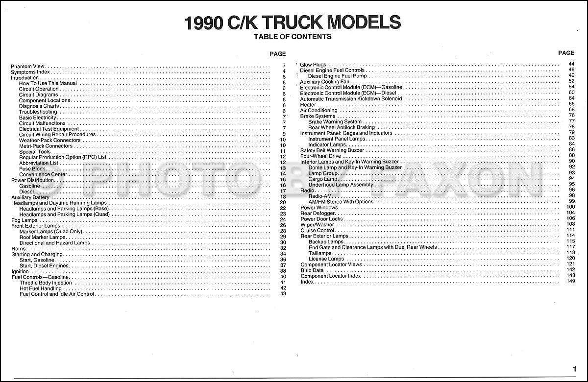 1989 Chevy Pickup Wire Diagram - Technical Diagrams on