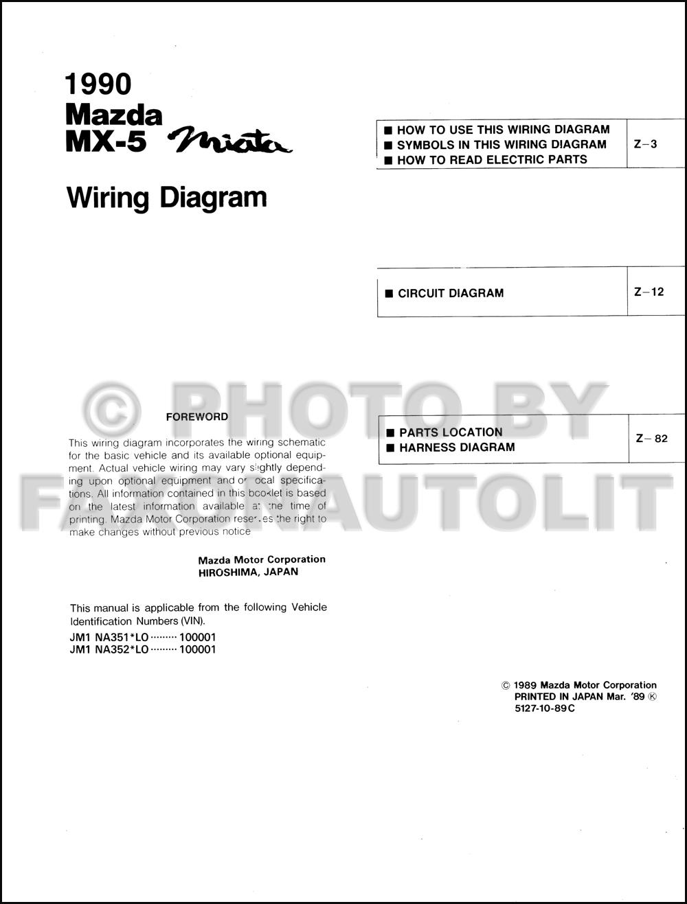 199mazda Mx 5 Miata Wiring Diagram Original Transmission Cars