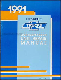1991 Chevy 1/2, 3/4, & 1 ton Truck Overhaul Manual Original
