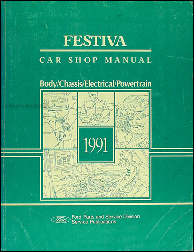 Ford Festiva Trio. 1991 Ford Festiva Repair Shop