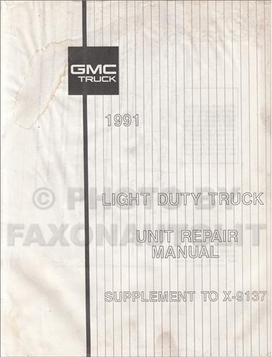 1991 Gmc 1  2  3  4   U0026 1 Ton Truck Overhaul Manual Original