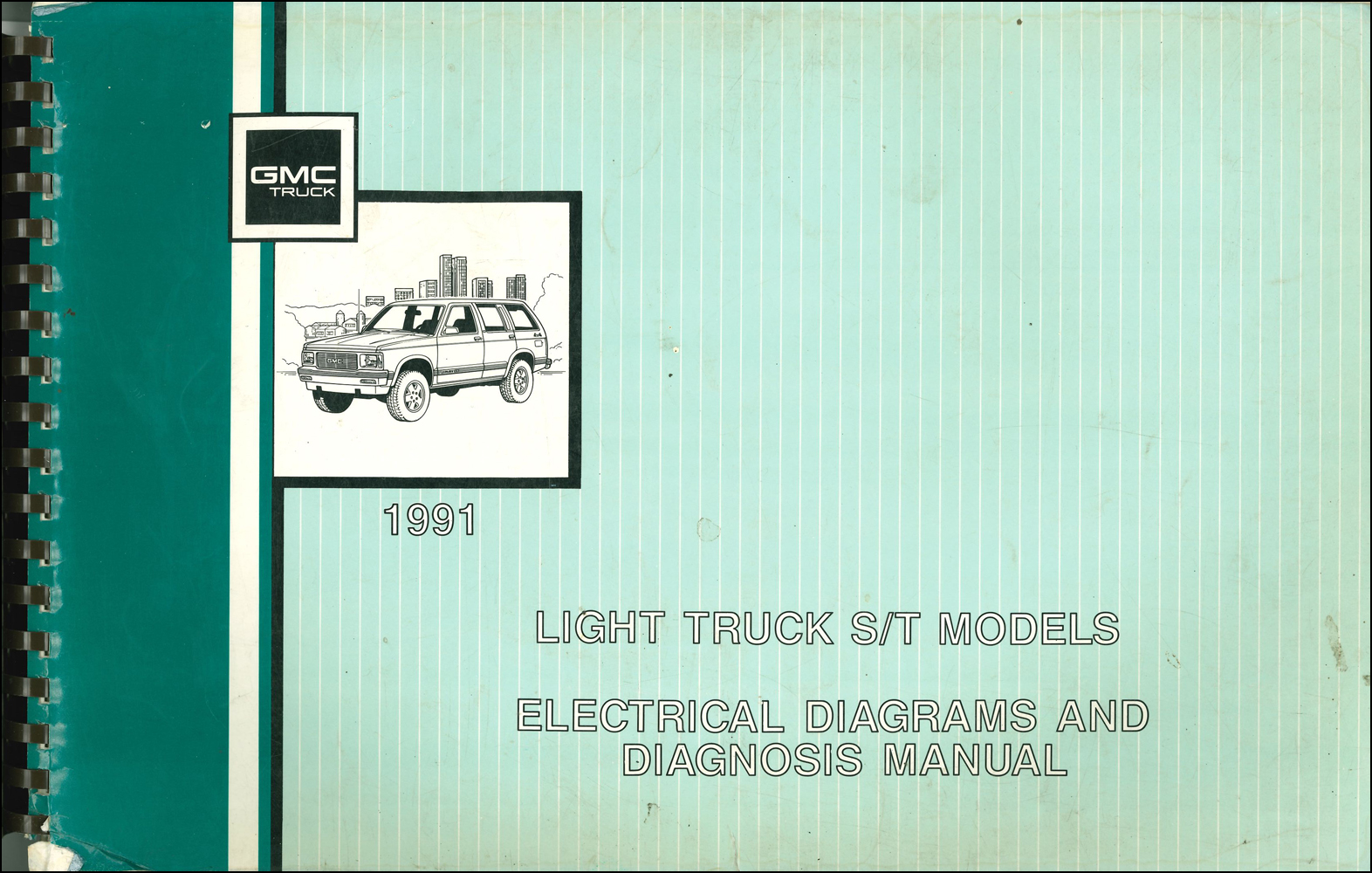 40 GMC S40 Sonoma Pickup & Jimmy Wiring Diagram Manual Original