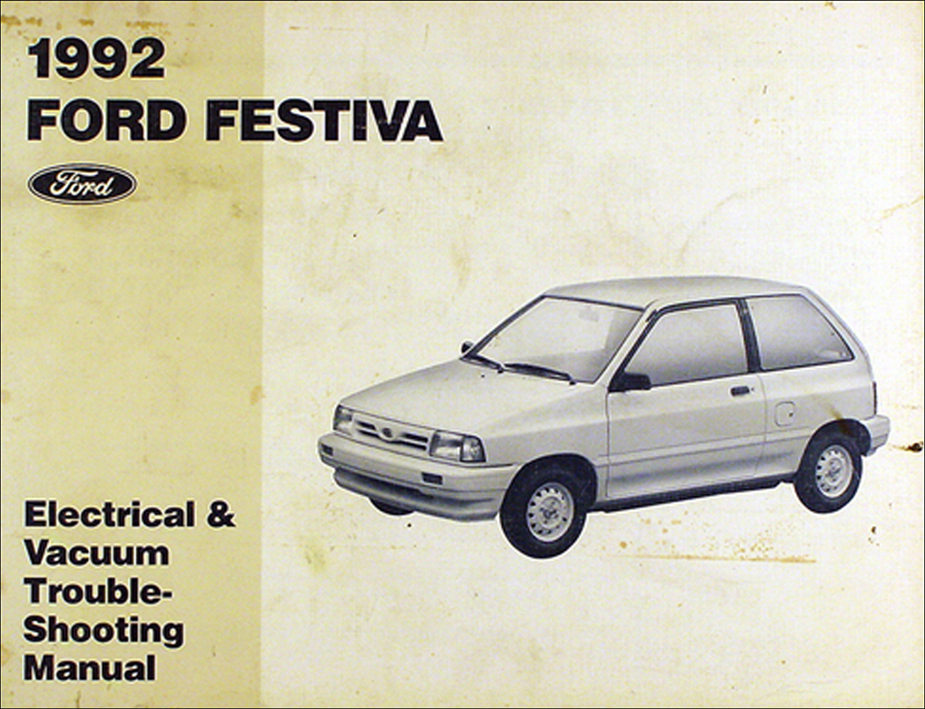 1992 ford festiva original electrical \u0026 vacuum troubleshooting manual 1992 Chevy Cavalier Wiring Diagram