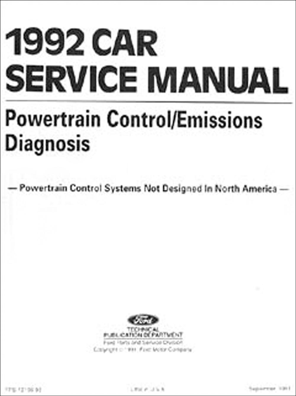 1992 Ford Festiva Repair Shop Manual Original