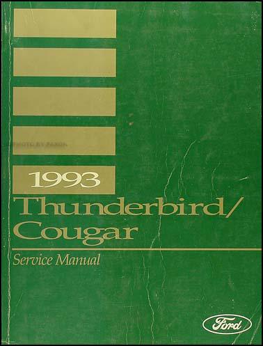1993 ford thunderbird mercury cougar wiring diagram original 1993 ford thunderbird mercury cougar repair shop manual original