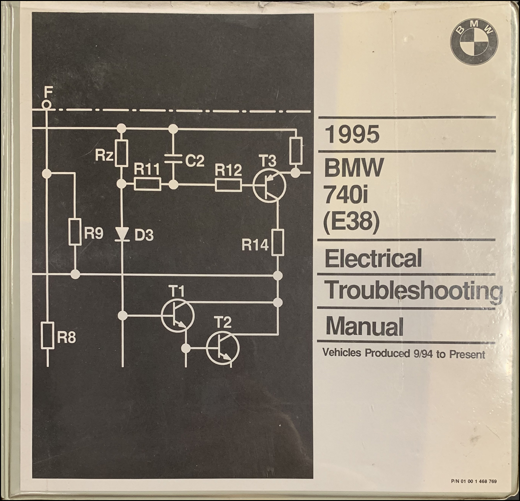 1995 BMW 740i Electrical Troubleshooting Manual E38