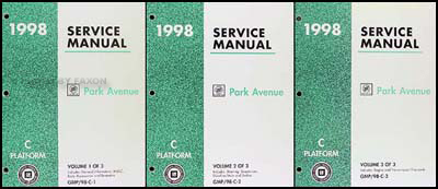 1998 Buick Park Avenue Repair Shop Manual Original 3 Volume Set