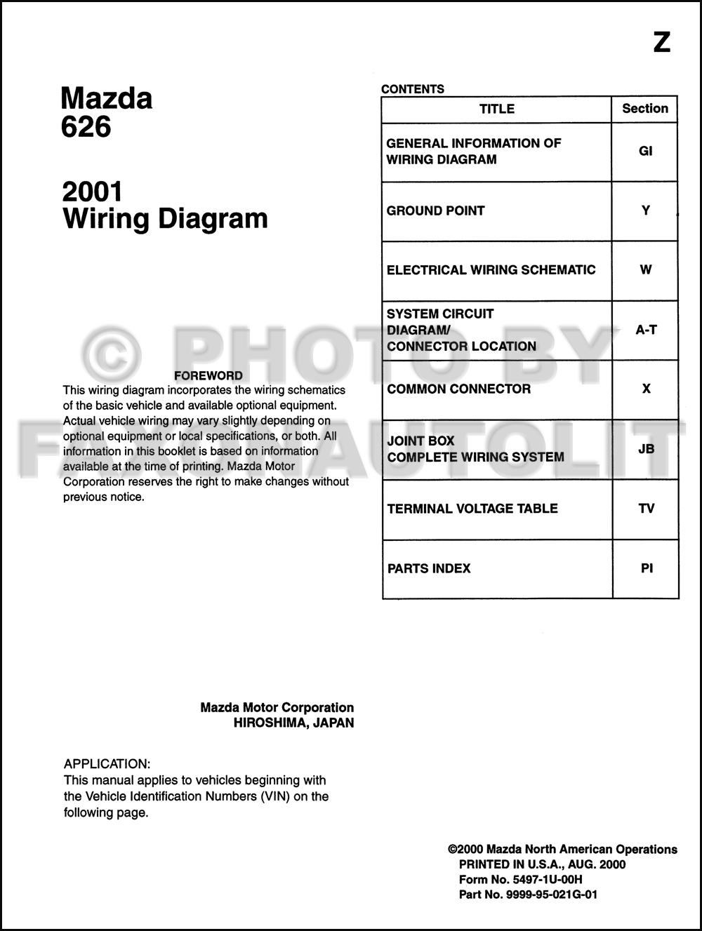 similiar wiring diagram for 2001 mazda 626 horn keywords 2001 mazda 626 wiring diagram manual original