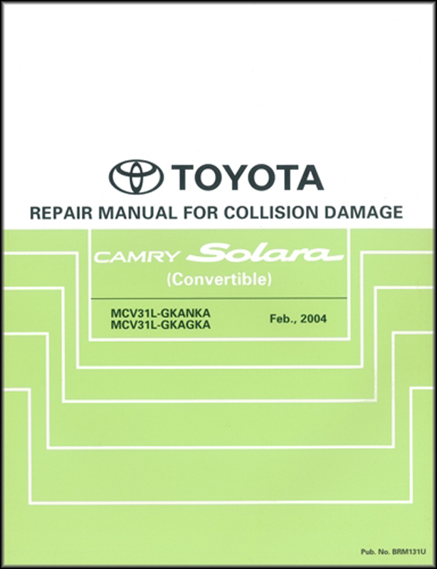 2003 TOYOTA CAMRY SOLARA FACTORY SERVICE MANUAL vol 1 /& 2