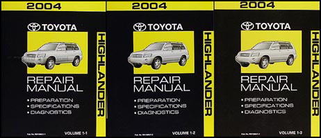 2004 Toyota Highlander Wiring Diagram Manual Original