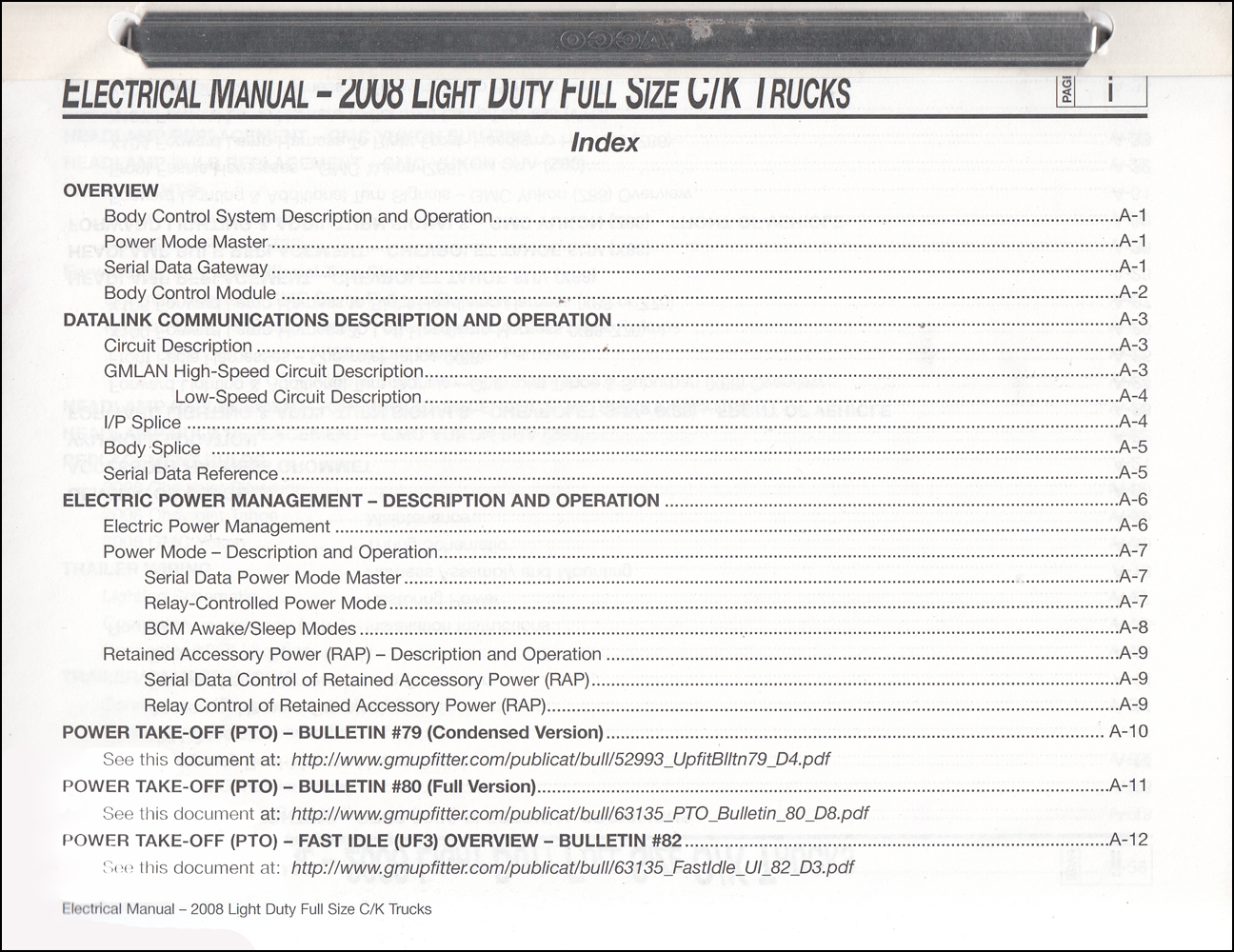 2008 GMC Sierra/Chevrolet Silverado Truck Wiring Diagram OriginalFaxon Auto Literature