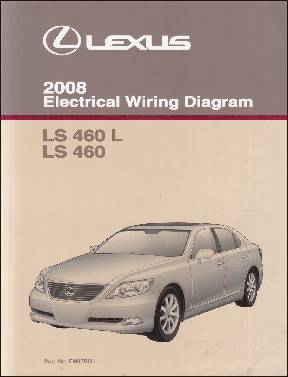 2008 Lexus Ls 460 Wiring Diagram Manual Original