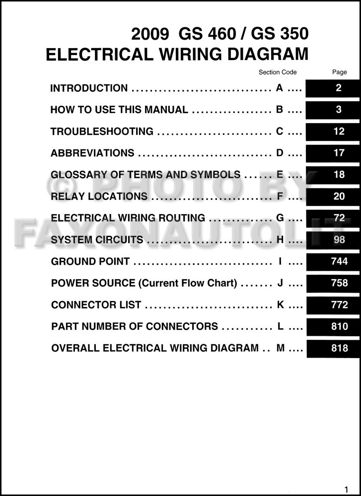 lexus gs 350 wiring diagram lexus auto wiring diagram schematic 2009 lexus gs 350 and gs 460 wiring diagram manual original on lexus gs 350 wiring