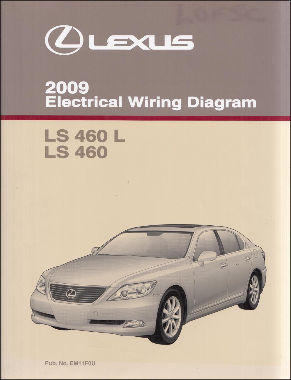 2009 Lexus Ls 460 And Ls460l Wiring Diagram Manual Original
