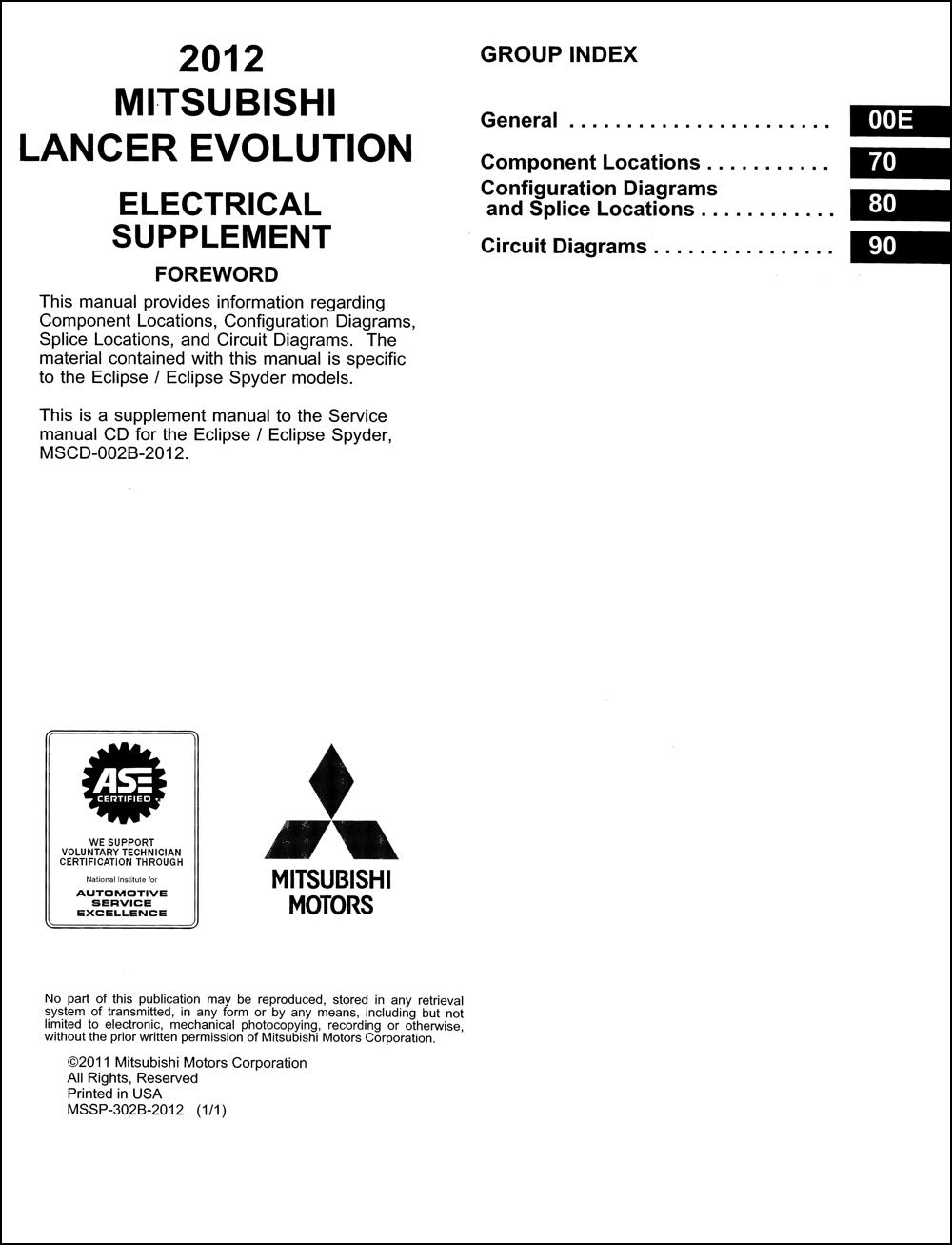 2004 Mitsubishi Lancer Evolution Wiring Diagram Original