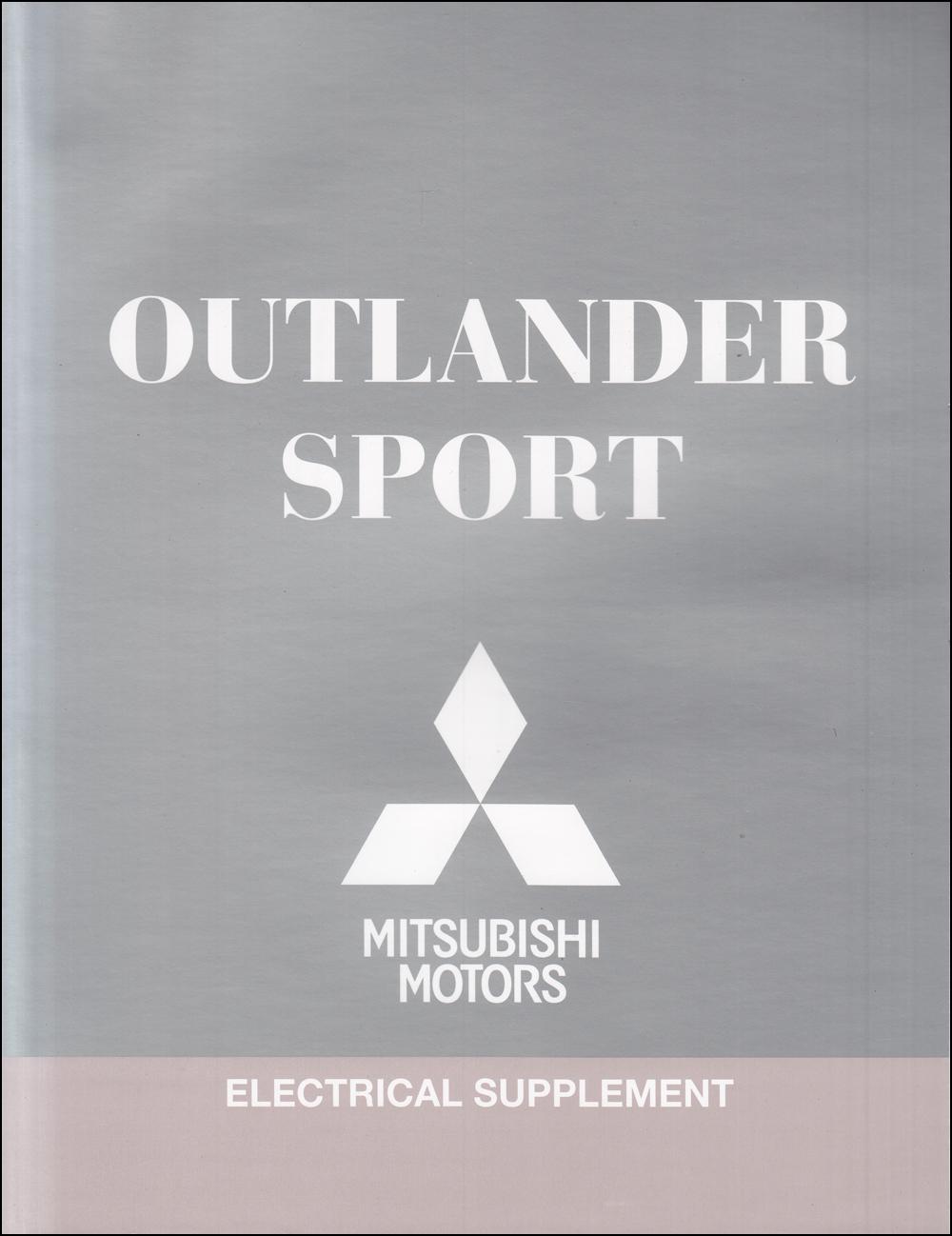 2012 Mitsubishi Outlander Sport Wiring Diagram Manual Original