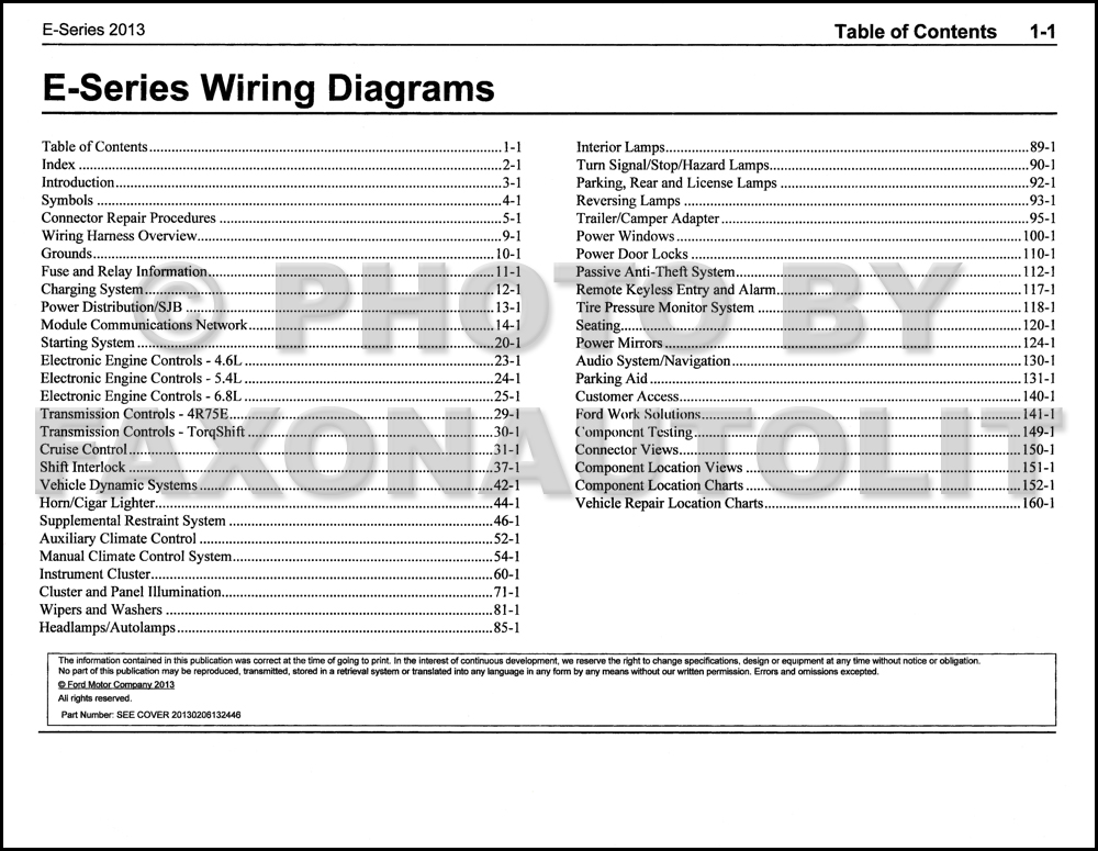 2013 ford econoline wiring diagram manual original van e150 e250 2013 ford econoline wiring diagram manual original van e150 e250 e350 e450