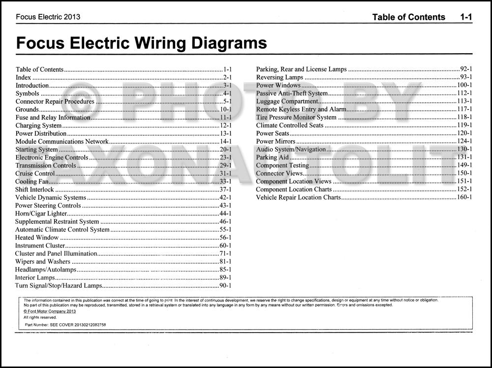 ford focus electric wiring diagram manual original all 2013 ford focus electric wiring diagram manual original all electric plug in