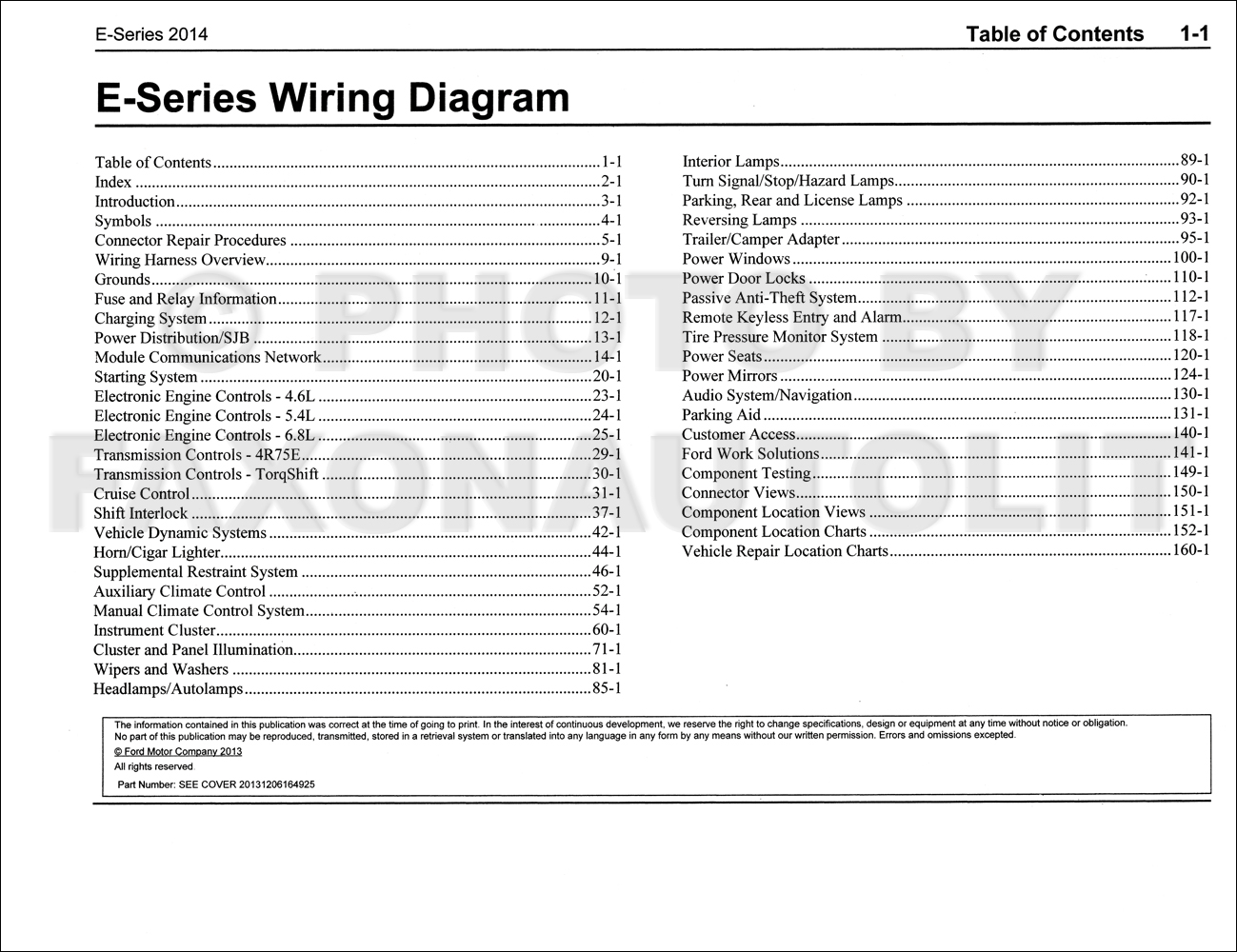2014 ford econoline wiring diagram manual original van e150 e250 2014 ford econoline wiring diagram manual original van e150 e250 e350 e450