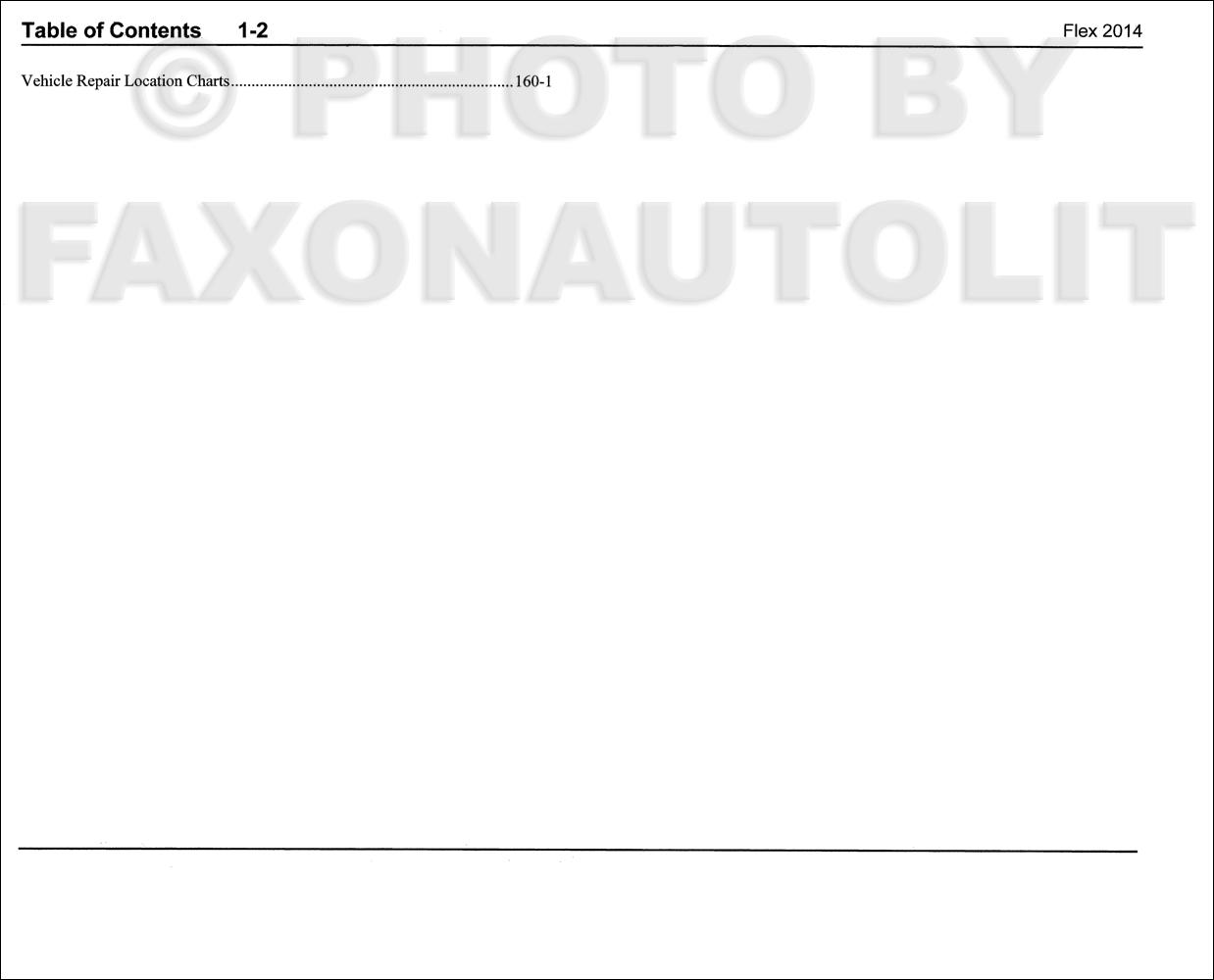 2014 ford flex wiring diagram manual original