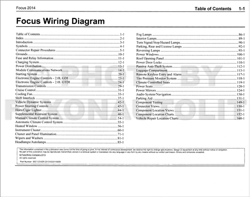 2014 ford focus wiring diagram 2014 automotive wiring diagrams 2014 ford focus wiring diagram manual original